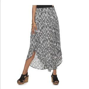 Joe B Smocked Waist Woven Maxi Skirt